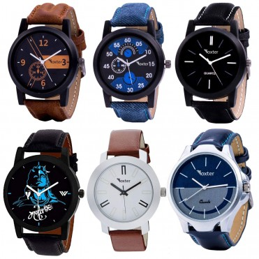 6 Multicolour Analog Analog Watch for Men and Boys